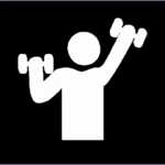 6 Fitness Icon Png White