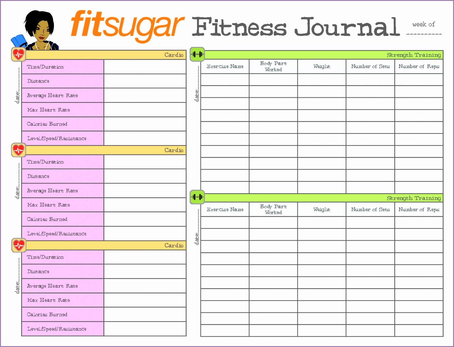 Make Your Own Fitness Planner with Free Planner Pages