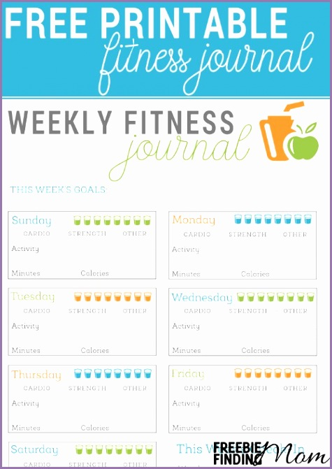 Free Printable Fitness Journal pin1