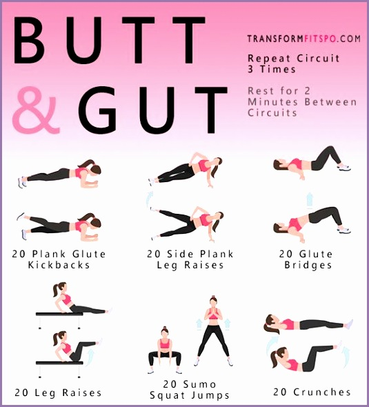 Abs Fitness Butt and Gut Workout for