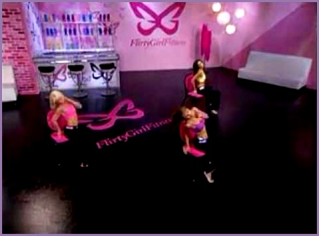 Flirty Girl Fitness Chair Dance