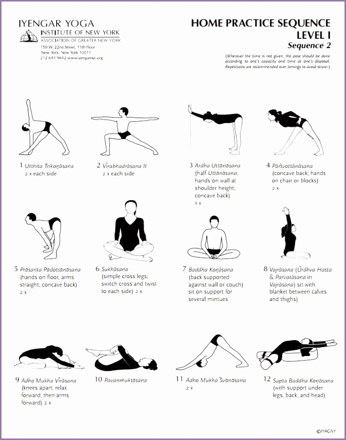 Iyengar Yoga Institute of New York Home Practice Sequence Level 1 Sequence 2