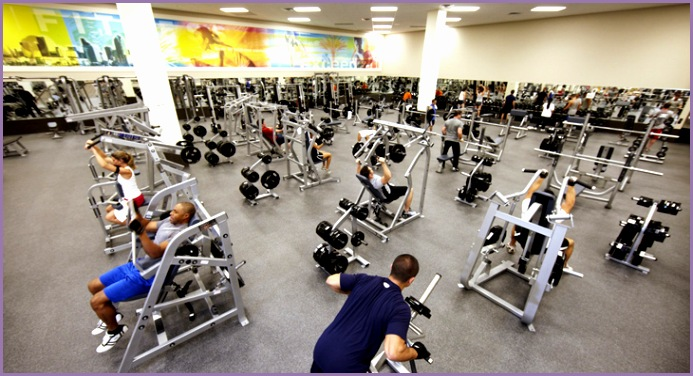 LA Fitness Weight Room