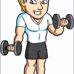 8 Man Working Out Clipart