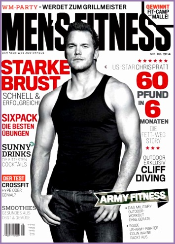 Chris Pratt Men s Fitness Magazine Cover [Germany] August 2014