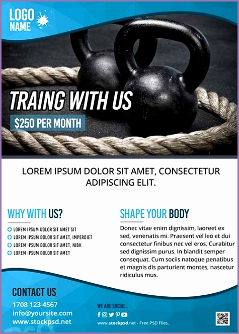 Fitness Training Gym Free Flyer Template