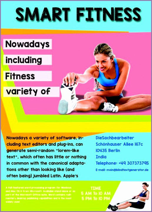 fitness flyer template free