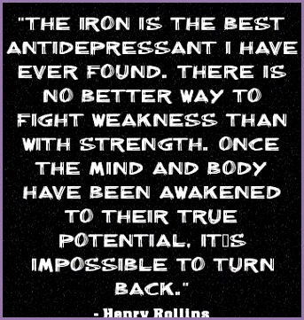 """The iron is the best antidepressant I have ever found """