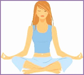 Seated relaxing yoga poses