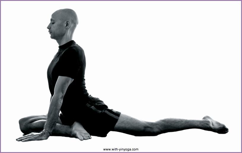 Swan Yin Yoga pose