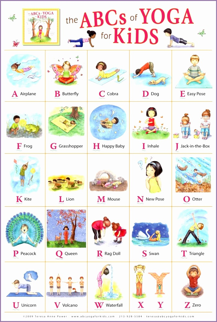 """Kathleen Rietz Illustration and Design """"The ABCs of Yoga for Kids"""" poster"""