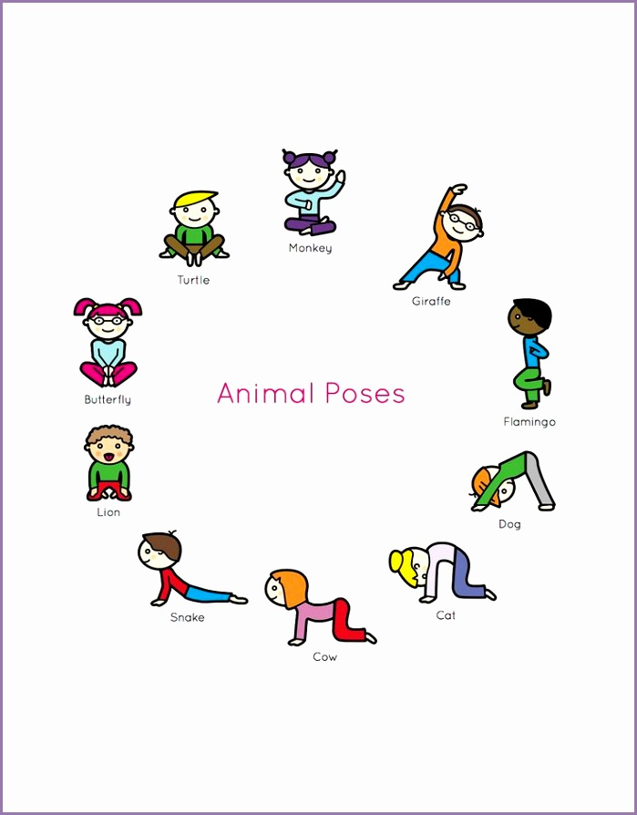 Kids Yoga Book My First Yoga Animal Poses
