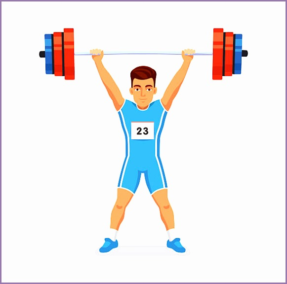 Weightlifting sport vector art illustration