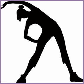 Fitness Clipart Image clip art silhouette of a woman stretching