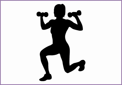 Female Fitness Silhouette Clipart