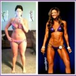4 Womens Fitness Competition before after