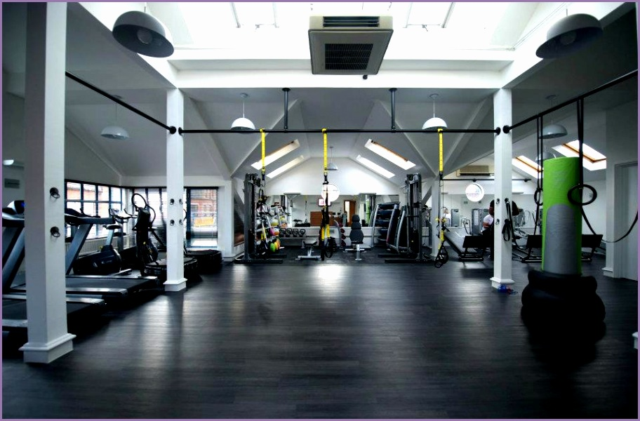 Black wood flooring option for group training studio