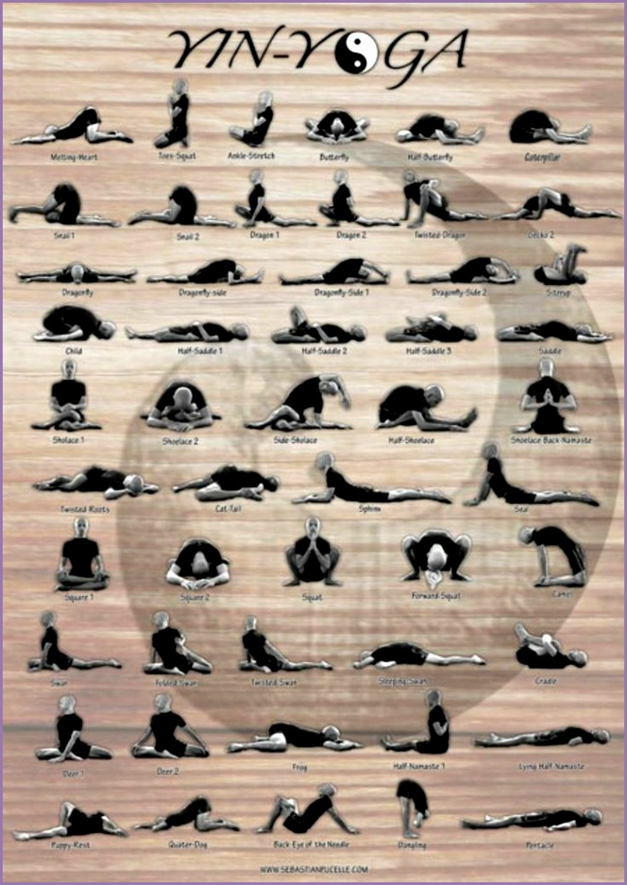 Yin Yoga Poses deep stretches Great postures and sequence to do when doing a