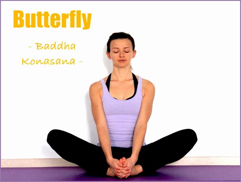 Butterfly pose or baddha konasana