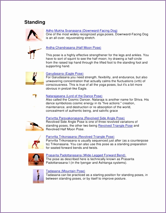 graphic dictionary of yoga poses 7pgs Standing Adho Mukha Svanasana Downward Facing Dog e of the most widely recognized