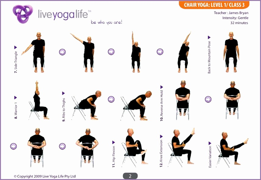 Easy Yoga Poses For Seniors Yoga with a Chair Level 1 – Class 3
