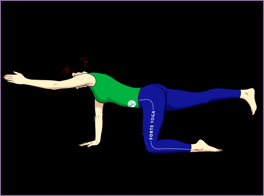 hands knees balance yoga pose