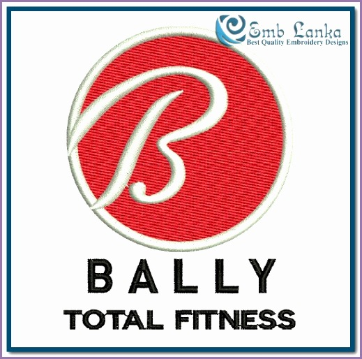bally total fitness logo embroidery design