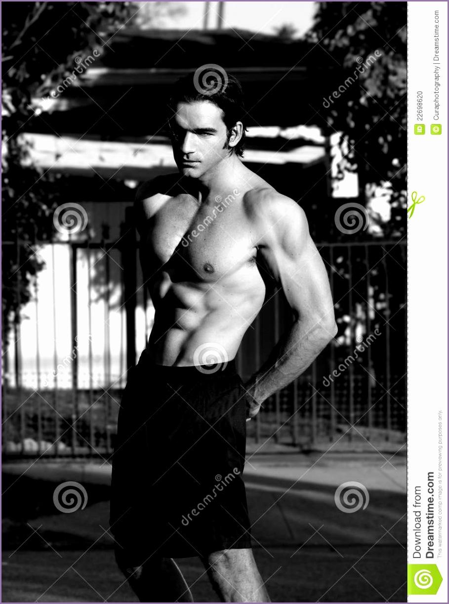 stock photo fitness model black white image