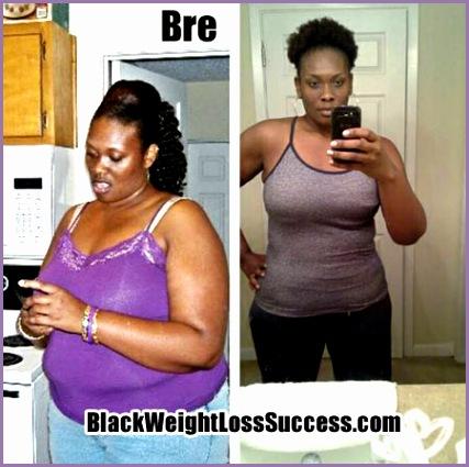 bre lost 45 pounds