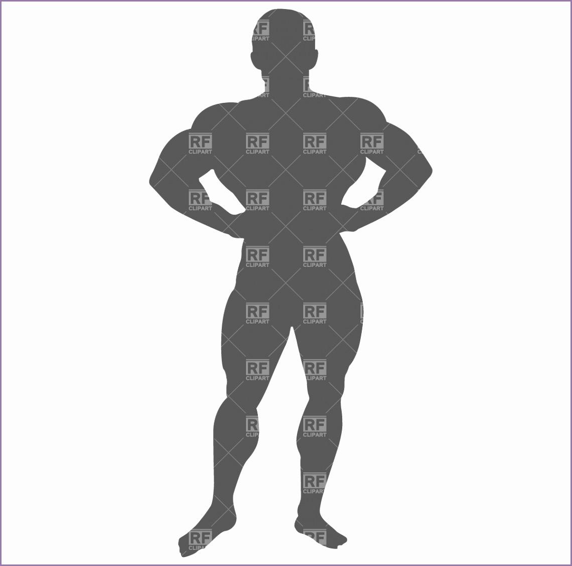 bodybuilder silhouette 719 vector clipart