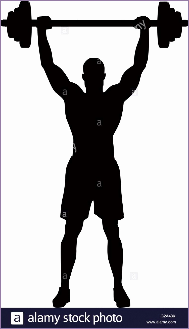 stock photo weight lifting bodybuilder silhouette