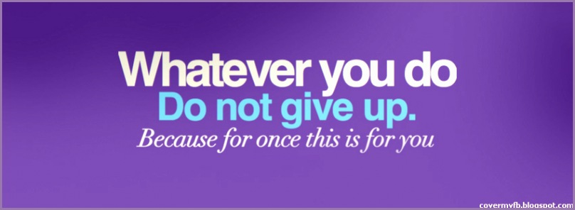 dont give up quote cover