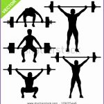 6 Female Weight Lifting Silhouette