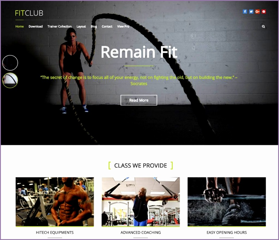 free fitness themes