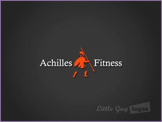 achilles fitness logo design
