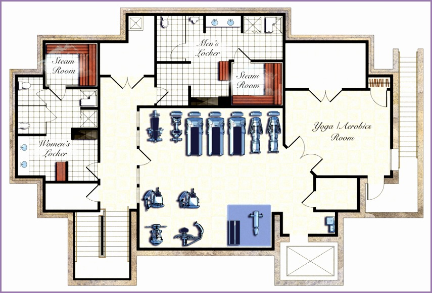 gym design and layout floor plan