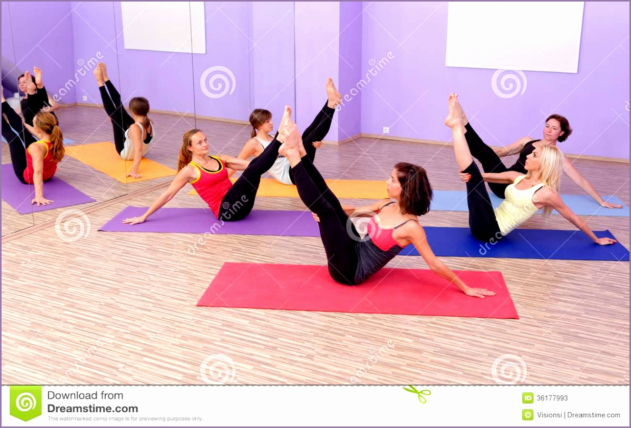 stock photos aerobic hot pilates personal trainer instructor gym fitness class image