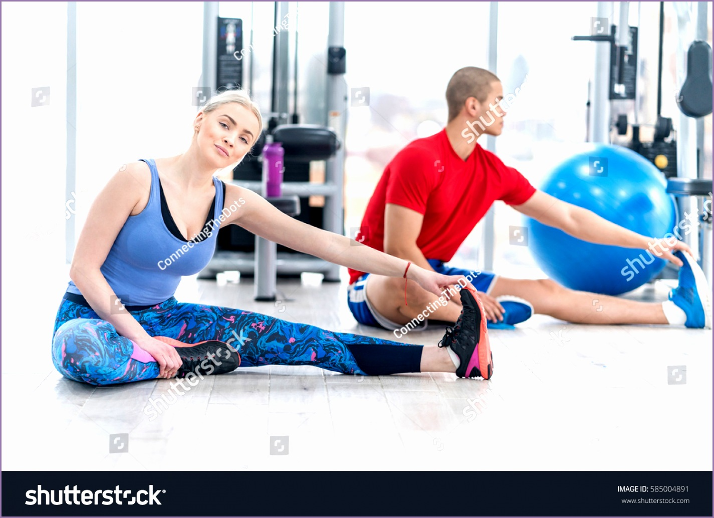 fitness couple gym workout