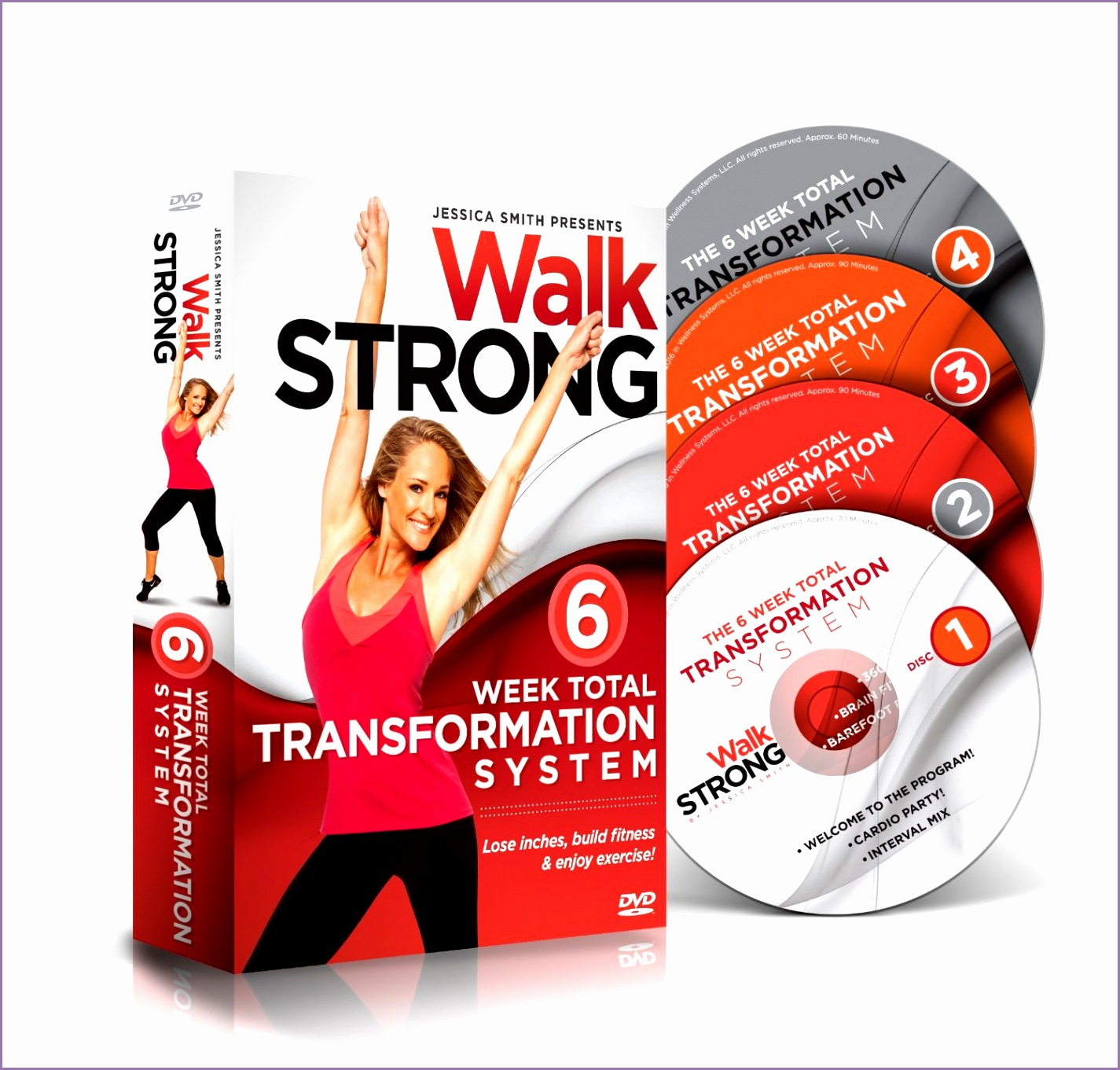 walk strong 6 week total transformation system by jessica smith new lose inches build fitness enjoy exercise