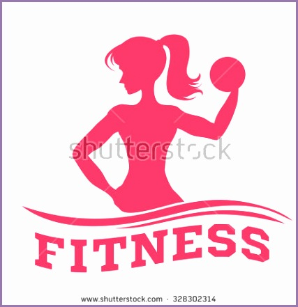 template fitness logo label emblem slender