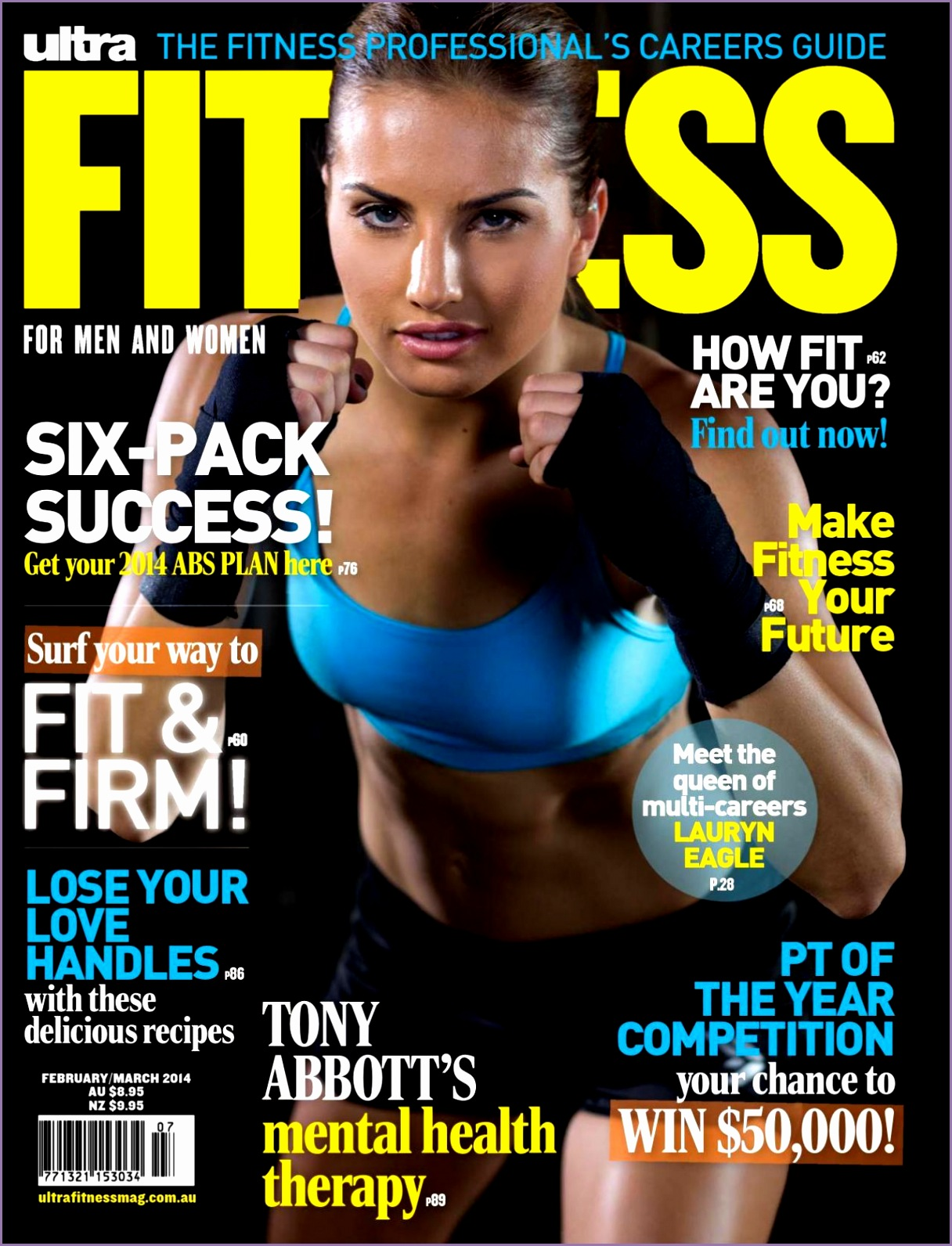 lauryn eagle ultra fitness magazine february march 2014 issue 1