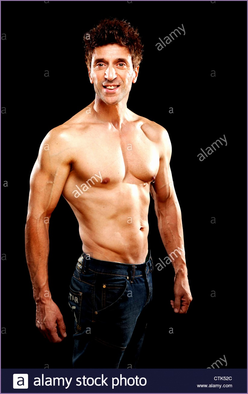 stock photo older mens physical health strong muscles 50 year old body fitness