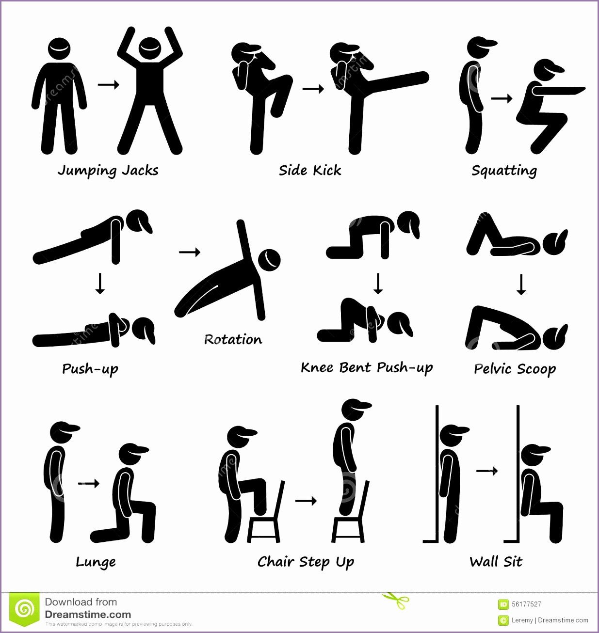 physical fitness exercises clipart