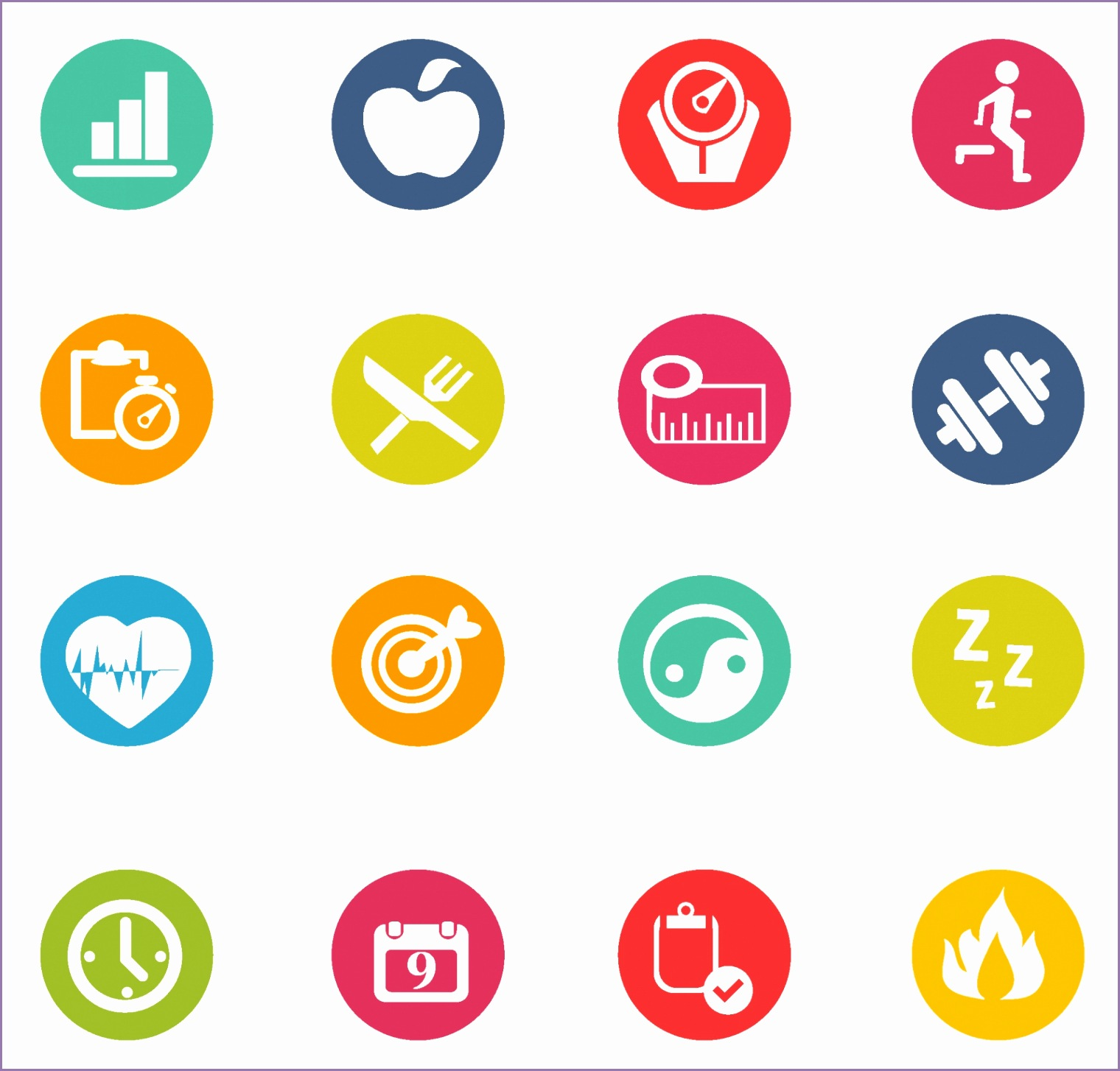 free vector fitness icons Fitness Icons