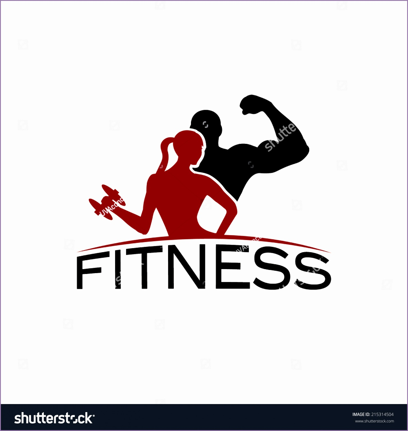 man woman fitness silhouette character vector