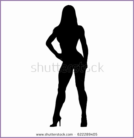 stock vector woman vector silhouette