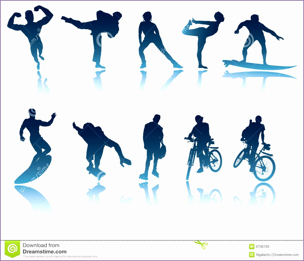 royalty free stock images sports fitness silhouettes image