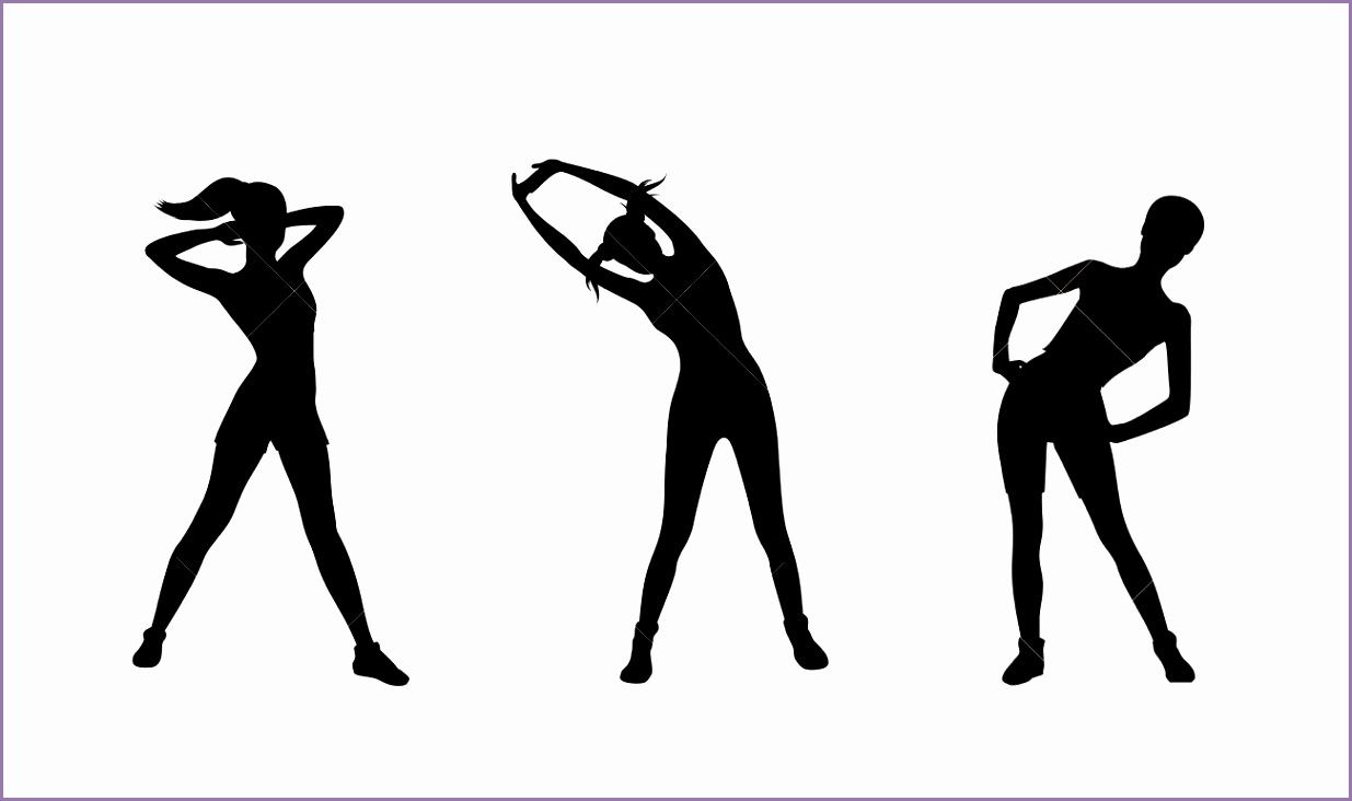 Silhouette clipart exercise