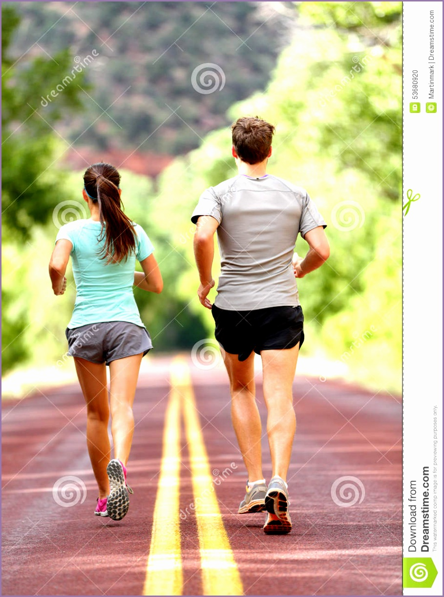 stock photo runners running jogging health fitness people run road nature couple women men training outside image