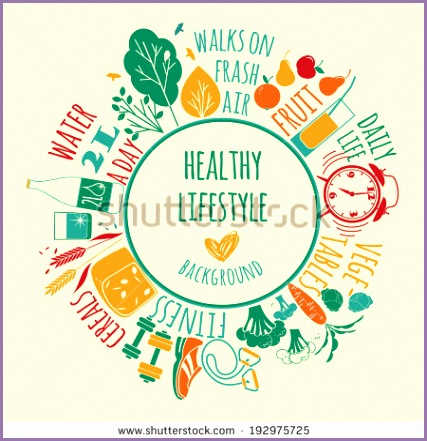 stock vector healthy lifestyle background
